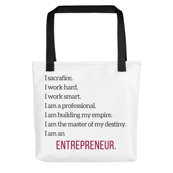 White Entrepreneur Tote Bag