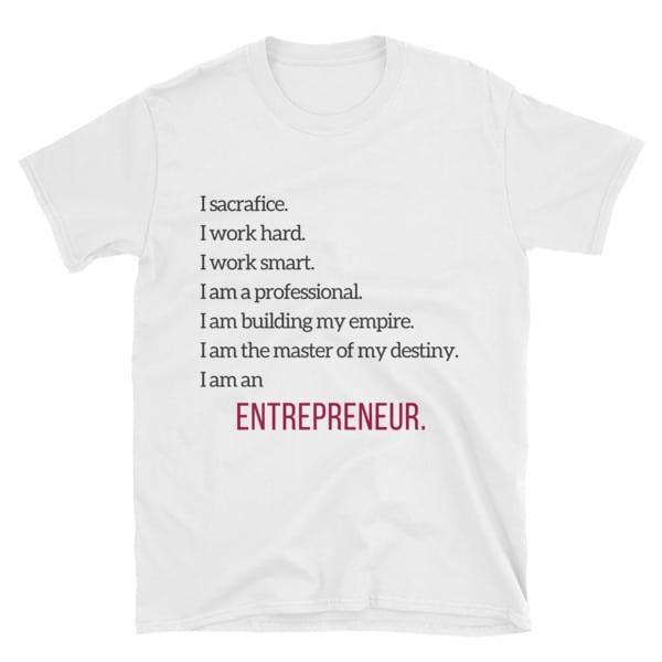 White Entrepreneur Tshirt