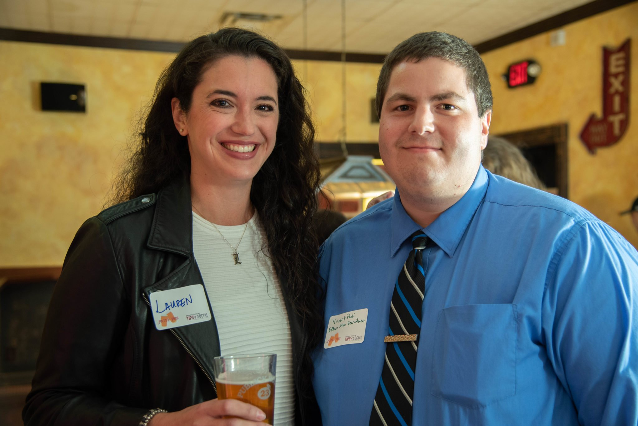 Lauren Naru and Vinnie Pedi Pose Together at Pints & Pros