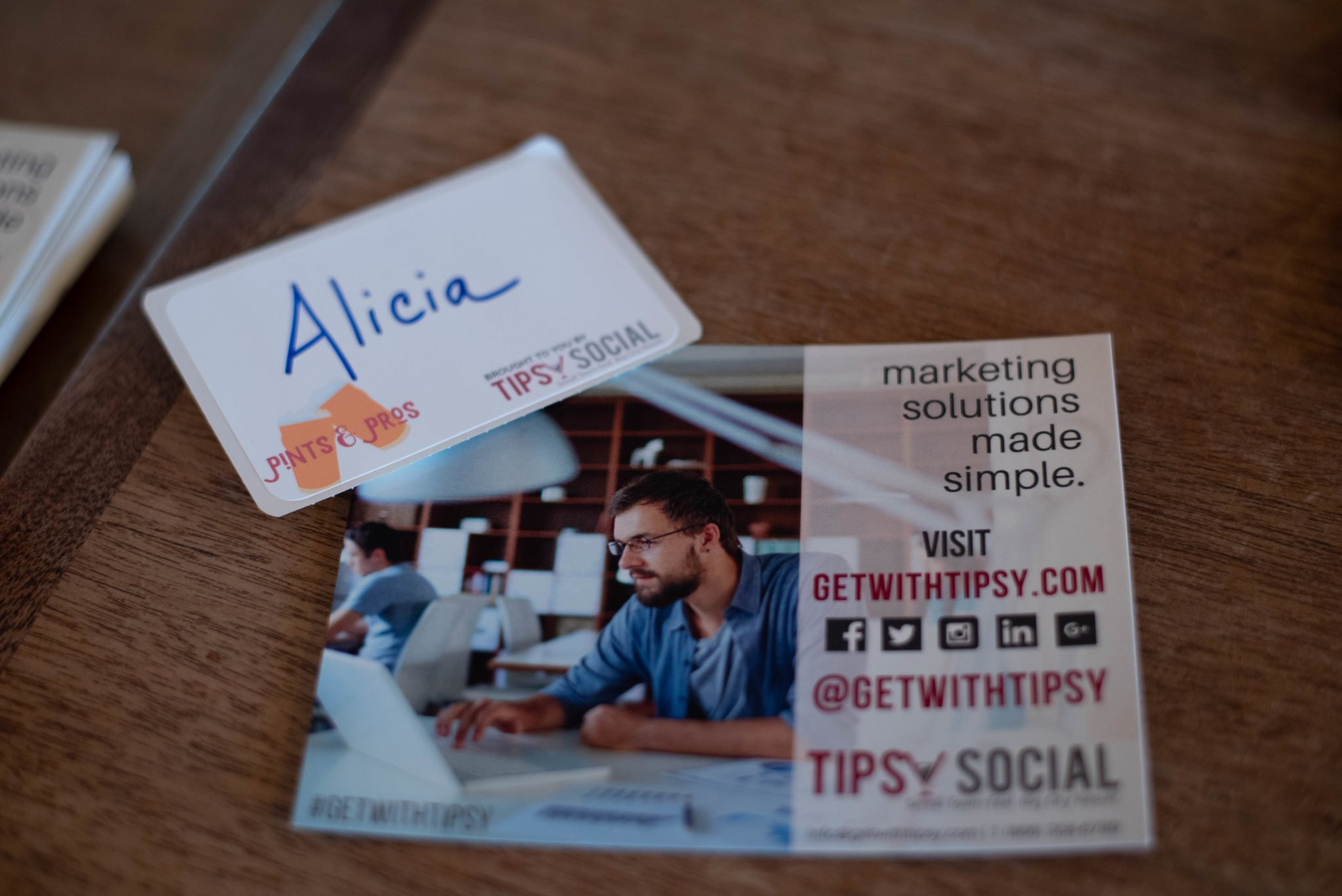 Tipsy Social Postcard