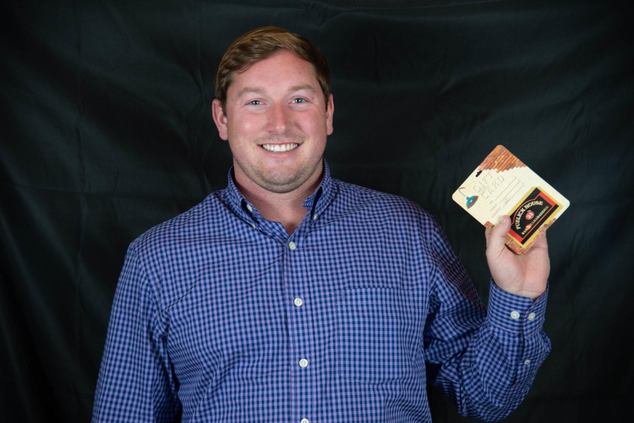 Luke Posing with Prize