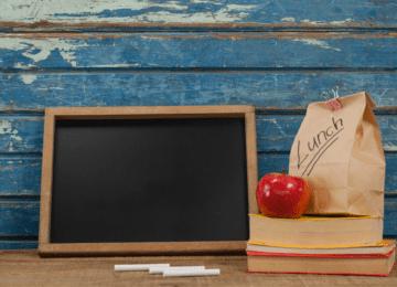 Bagged Lunch & Chalk Board