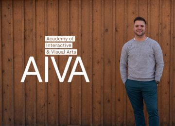 Andrew with AIVA Logo
