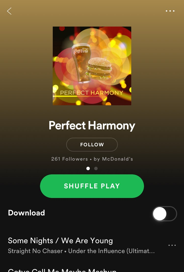 McDonald's Spotify Playlist