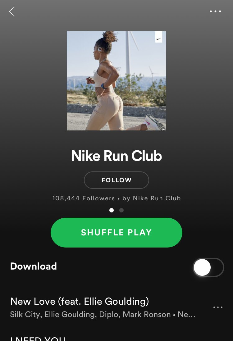 Nike's Spotify Playlist