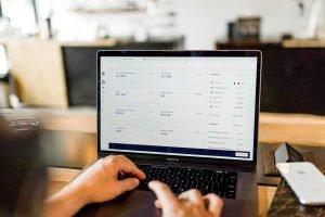 Screenshot of an online store for a business.