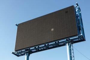 Blank billboard outside.